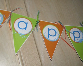 DIY Pool Party Banner (INSTANT DOWNLOAD)