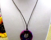 Violet and Purple Swirl Marble Pendant