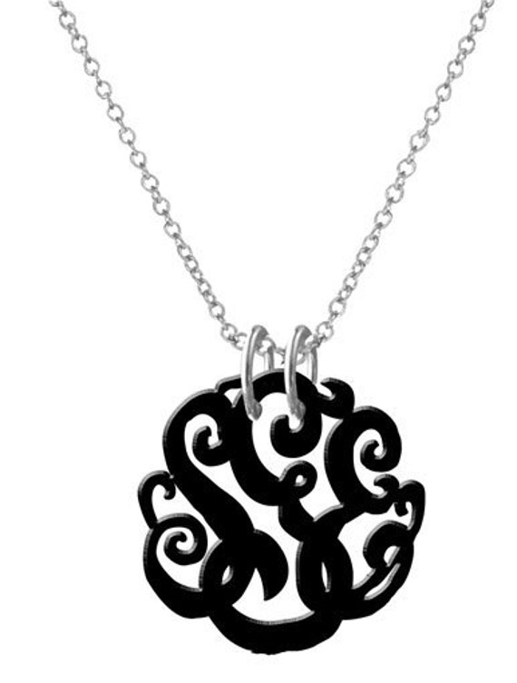 Monogram Necklace Acrylic Necklace