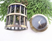 1pcs 28MMx39MM Bronze color Birdcage pocket watch charms pendant PP41