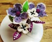 4 Sugar Purple Petals Inspired By Vera Bradley With Leaves