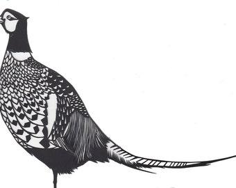 Original Paper cut Pheasant