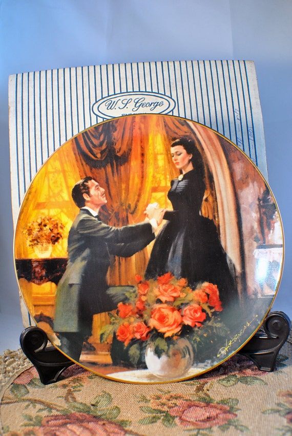 Gone With the Wind Vintage Collectable Plate by W.S. George - The Proposal
