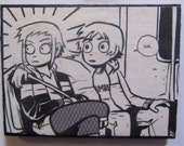 "Scott Pilgrim Ramona Flowers Upcycled Comic Book Magnet - ""Umm..."""