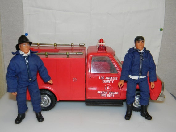 Emergency 51 TV series toy Rescue Squad truck and two action figures