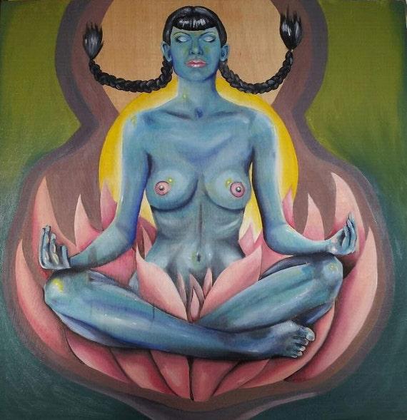 Meditation Pose painting