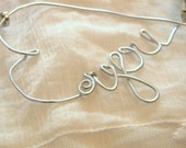 Heart Shaped Wire Love Necklace