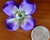 Little purple pansy hair clip