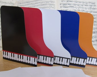 Make an Art Case Grand Piano Note Card or Ornament mix & match to your choice (5 cards)