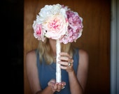 Pink and White Sparkling Bridal Bouquet