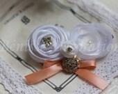 100% handmade fabric flower of women wedding / fashion  hair piece and brooch