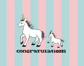 New Baby Unicorn Greeting Card