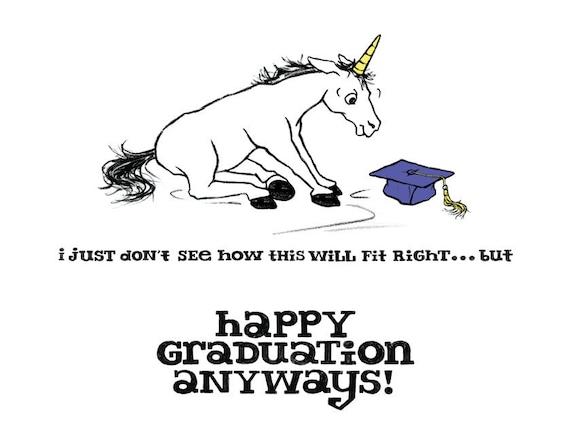 Graduation Unicorn Card