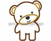 Sweet Teddy Bear Machine Embroidery Applique