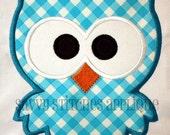 Kookie Owl Machine Embroidery Applique Design