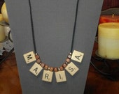 Personalized Name Scrabble Tile Necklace