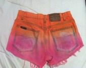 Orange and Pink High Waisted Cutoffs