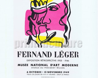 Fernand Leger Musee National D'Art Moderne 1949. Lithograph poster by Mourlot - Paris.