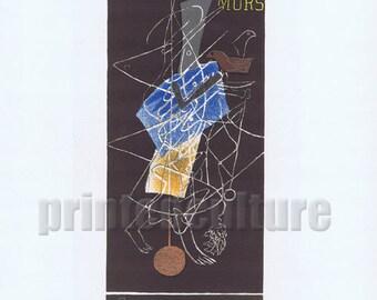 GEORGES BRAQUE Sur Quatre Murs Galerie Maeght 1956 - Lithograph poster by Mourlot - Paris.