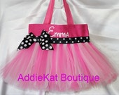 Personalized Tutu Tote Bag - Perfect for Easter Baskets, Birthdays, Halloween or Party Favors