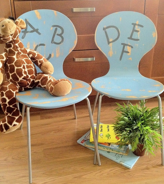 Painted Children's Chairs Set of Two
