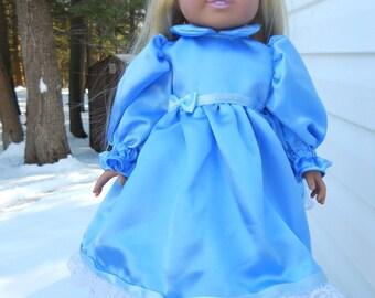 Lovely blue satin party dress