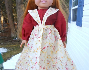 Two piece colonial or 19th century dress