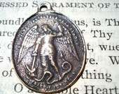 St. Michael the Archangel and Blessed Mother - Two Way MEDAL - Bronze or Sterling Silver (M95-491)