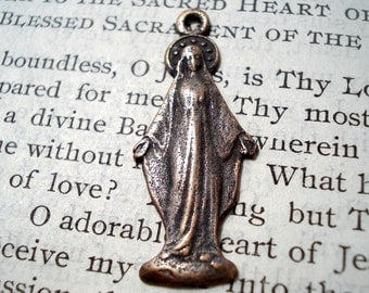 Miraculous Medal - Mary - Blessed Mother Medal -  Bronze or Sterling Silver (M02-487)