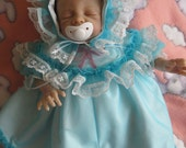 Beautiful Handmade Baby Doll Dress With Shadow Embroidery Design on Front