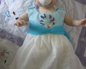 Precious Baby Doll Summer Dress With Silk Ribbon Embroidery Detail