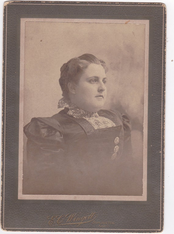 Cabinet Card Photo of Big Woman (Jonah Hill Lookalike)