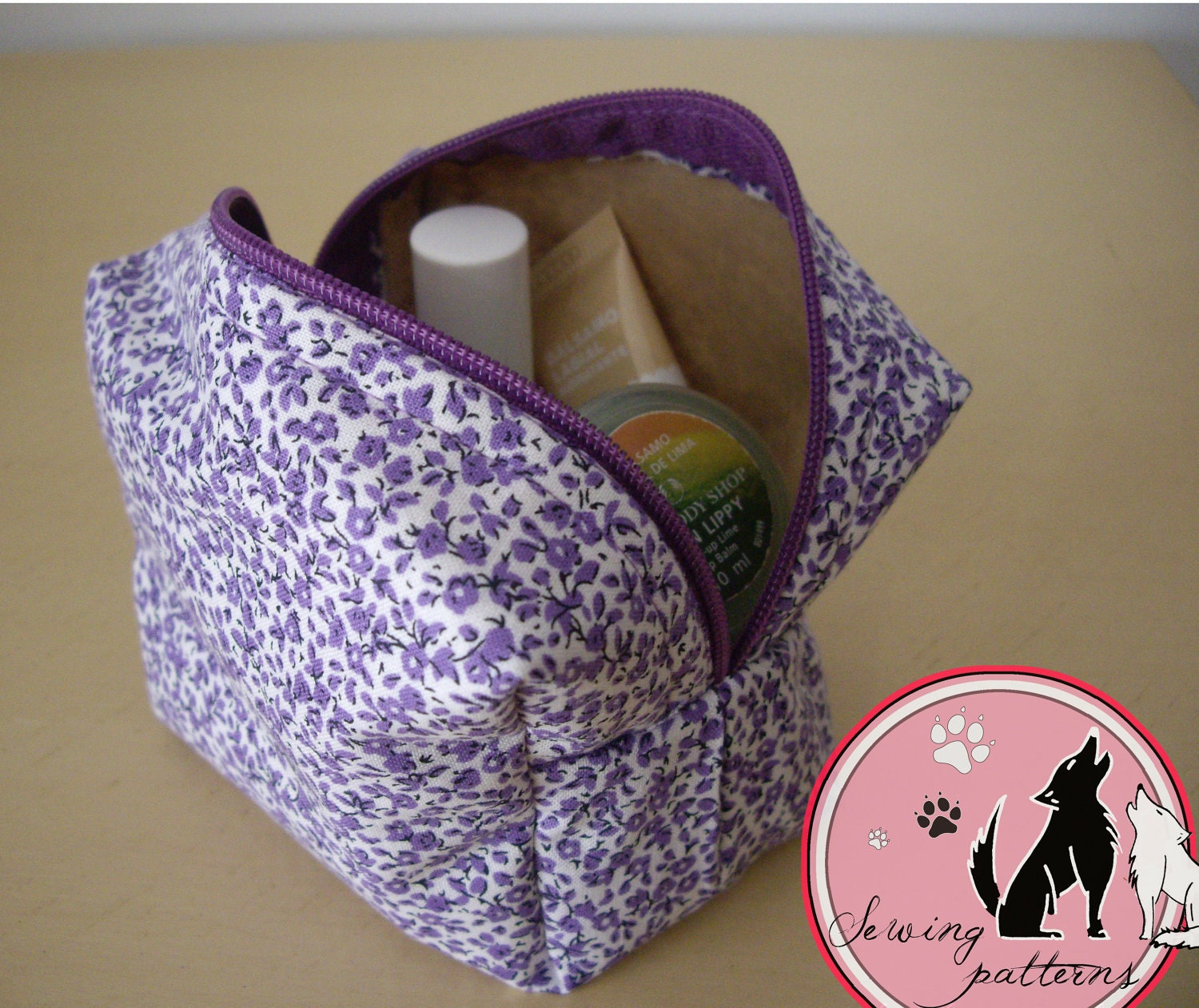 Box Pouch Sewing Pattern. Box Bag Toiletry Bag by fetamanoir