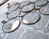 5 Vintage Optical Lens Mixed Media Destash for Altered Art and DIY Steampunk Shrine Assemblage Art