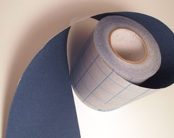 2' Denim Blue Adhesive Fabric Book Cloth Tape Bookbinding Supplies Book Repair Tape Mixed Media Destash