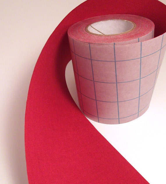 1' Red Adhesive Fabric Book Cloth Tape By KeyLimeSupplies