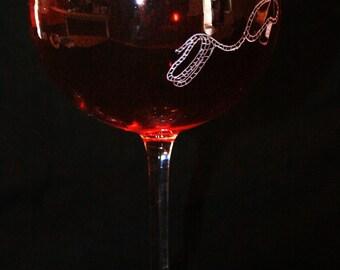 Accountant wine glass gift