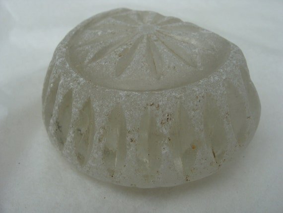 Reserved for USG - Large English Sea Glass Shard possibly table inkwell SG029