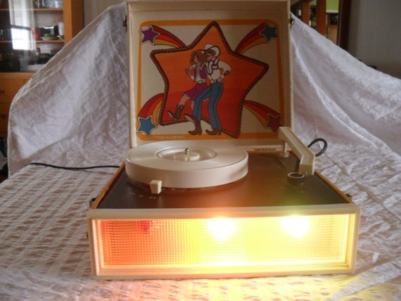 Disco Cowboy Realistic Childs Portable Record Player