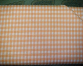 Vintage fabric: Peach Checkered - 1 yard