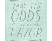 Hunger Games Art Print A3 - May The Odds Be Ever In Your Favor