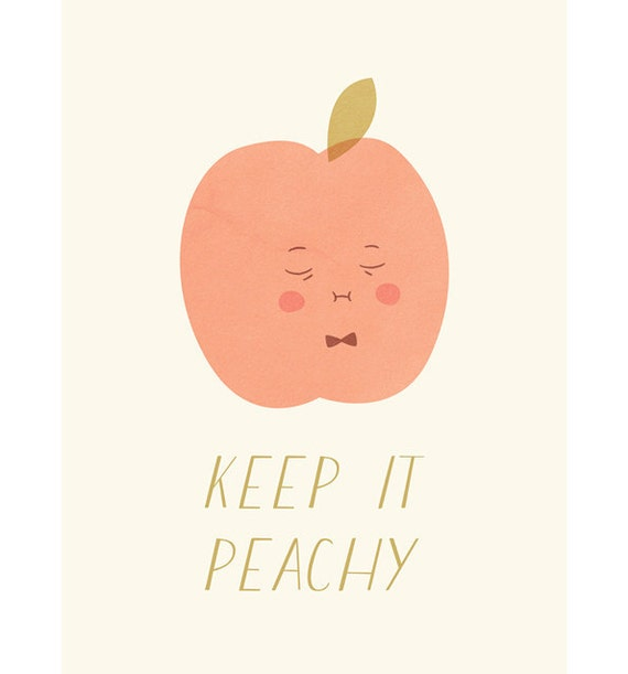 RESERVED FOR THISISFOUNDRY Art Print A3 - Keep It Peachy