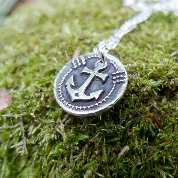 You Are My Anchor - Necklace in Fine Silver
