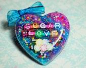 "Kawaii ""Sugar Love"" Resin Heart Necklace"