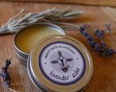 1 oz Lavender Salve Ointment Balm - Organic - for sunburn, dry skin, rashes, bug bites, bee stings, diaper rash, stress relief