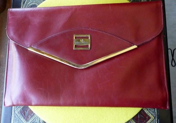 Etienne Aigner Envelope Clutch Dark Red/Burgundy