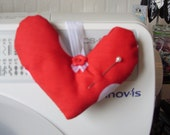 Pin cushion - heart shaped
