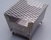 Stainless Steel Dual Fuel Mini Portable Barbecue Grill and Camp Stove