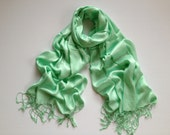 spearmint burst pashmina scarf, spearmint burst pashmina shawl, spearmint burst fashion scarf, pashmina scarf, pashmina shawl, scarf, shawl