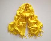 SALE bright yellow pashmina scarf, bright yellow pashmina shawl, bright yellow fashion scarf, pashmina scarf, pashmina shawl, scarf, shawl